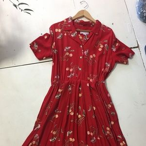Vintage Lindsey Scott Floral Dress